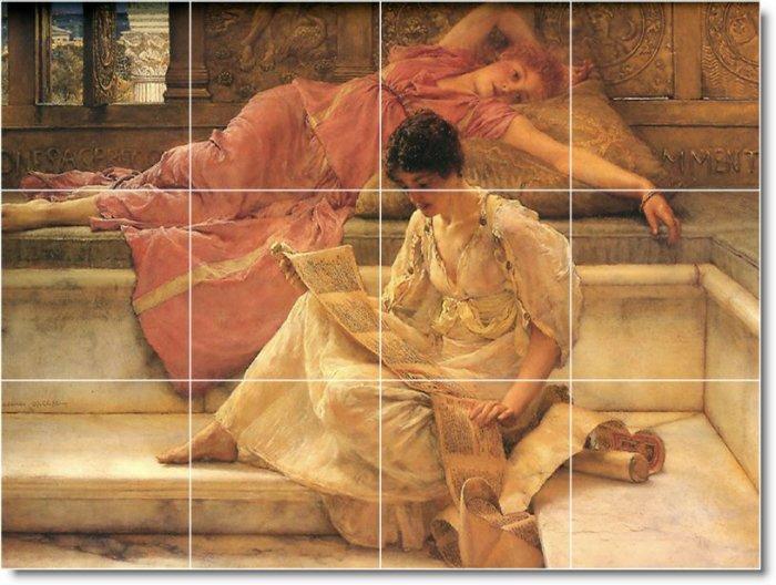 Alma-Tadema Women Living Mural Wall Room Tiles Remodel Decor Home
