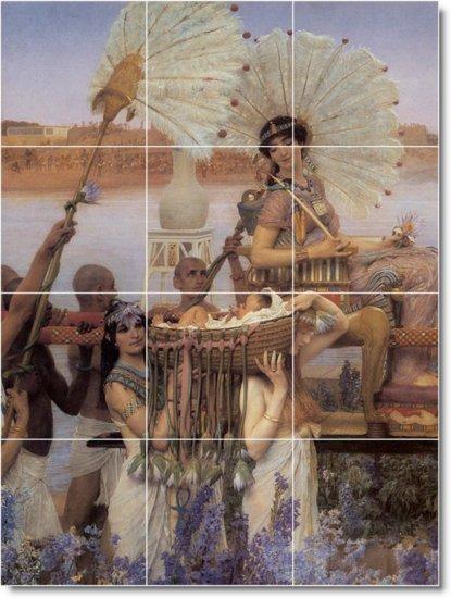 Alma-Tadema Historical Mural Shower Tile Home Decorating Modern
