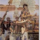 Alma-Tadema Historical Mural Shower Tile Home Decorating Modern