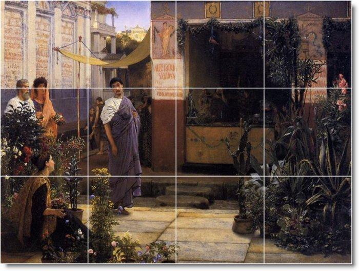 Alma-Tadema Historical Mural Tile Shower Decorating Modern Home