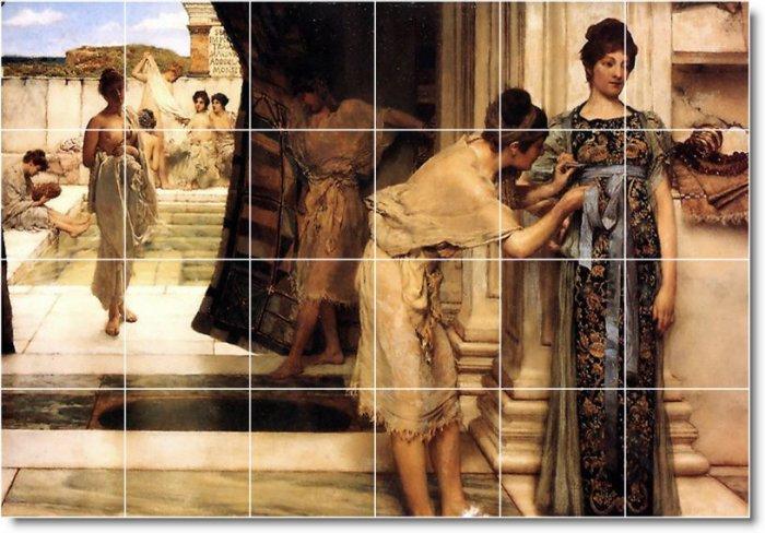 Alma-Tadema Historical Murals Tile Room Home Construction Ideas