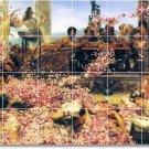 Alma-Tadema Garden Room Living Floor Tile House Renovate Ideas