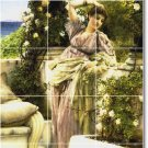 Alma-Tadema Women Living Mural Tiles Room Wall Decor Remodel Home