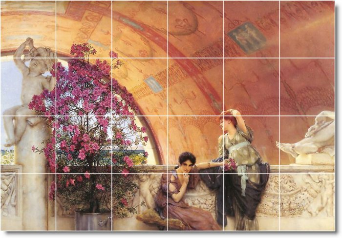Alma-Tadema Women Room Murals Living Wall Wall Floor Design Decor