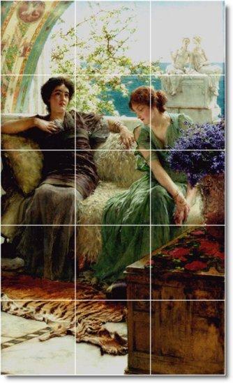 Alma-Tadema Women Room Murals Wall Wall Living Design Decor Floor