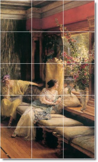 Alma-Tadema Women Room Murals Wall Living Wall Decor Floor Design