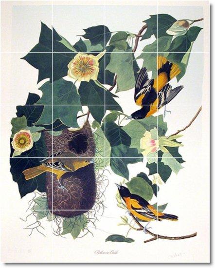 Audubon Birds Tiles Room Wall Renovations Design Idea Commercial