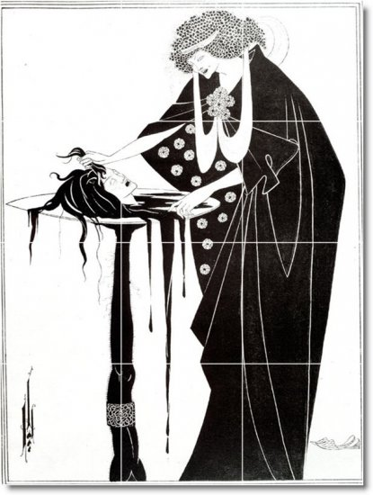 Beardsley Illustration Murals Wall Wall Bedroom House Renovate