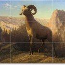 Bierstadt Animals Shower Wall Murals Tile House Modern Remodeling