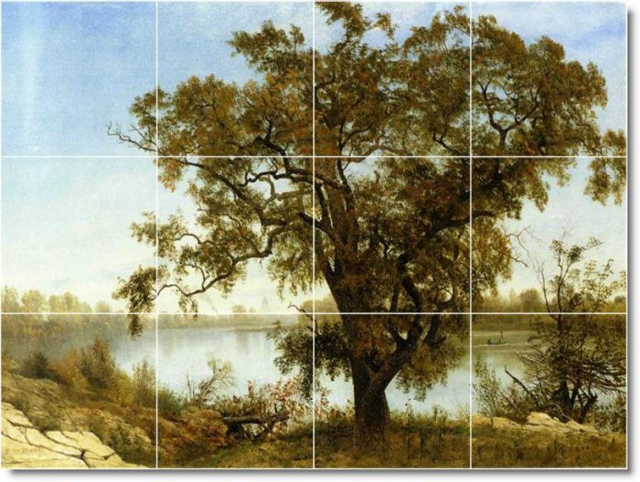 Bierstadt Country Shower Tile Murals Wall Remodeling Modern House