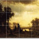 Bierstadt Indians Bedroom Tiles Wall Mural Mural Home Decor Decor