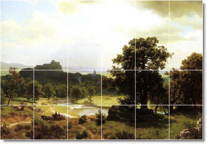Bierstadt Landscapes Tile Mural Kitchen Decor Interior Renovate