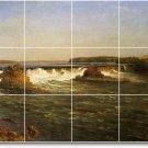 Bierstadt Waterfalls Dining Mural Room Tile Modern Remodel Home
