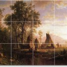 Bierstadt Indians Wall Bathroom Tiles Shower Mural Commercial Art