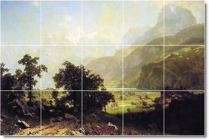 Bierstadt Landscapes Tiles Dining Room Floor Construction Ideas