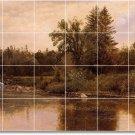 Bierstadt Landscapes Murals Dining Room Tile House Decor Design