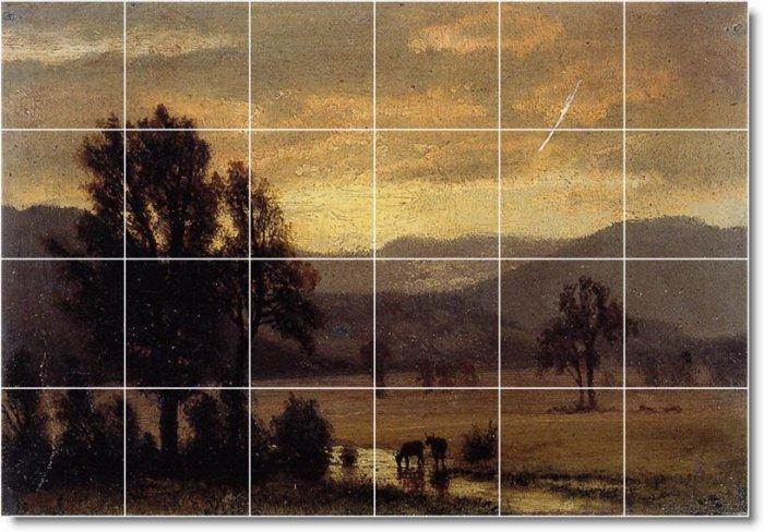 Bierstadt Landscapes Murals Room Tile Dining Decor House Design