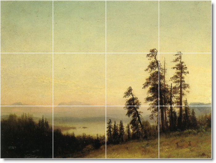 Bierstadt Landscapes Murals Tile Dining Room Decor Design House