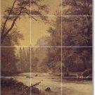 Bierstadt Landscapes Room Tile Living Murals Remodel Decor Home