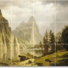 Bierstadt Landscapes Room Tile Murals Living Decor Home Remodel