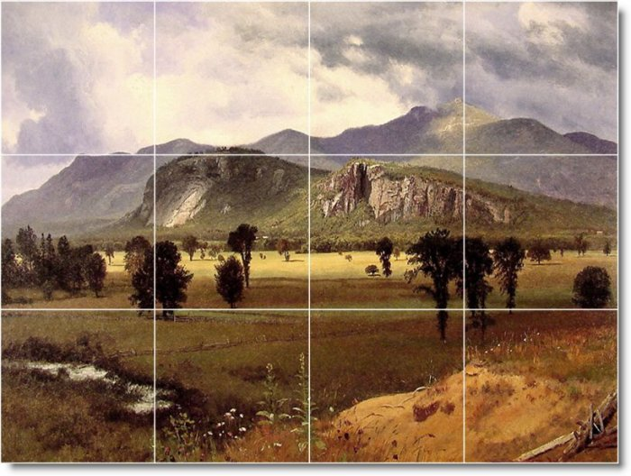 Bierstadt Landscapes Room Murals Living Tile Decor Remodel Home