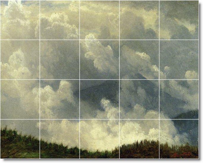 Bierstadt Landscapes Tiles Mural Backsplash Kitchen Traditional