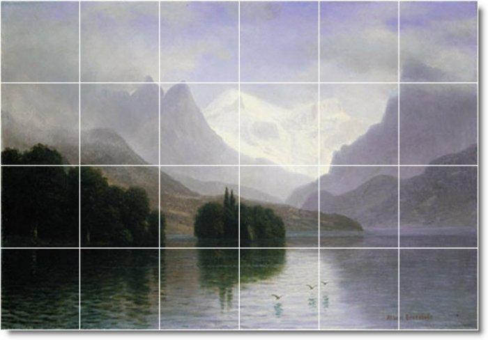 Bierstadt Landscapes Mural Room Living Interior Idea Decorating