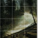 Bierstadt Waterfalls Backsplash Mural Kitchen Wall Tile Remodel