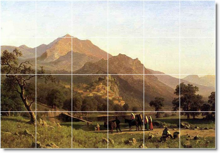 Bierstadt Landscapes Wall Mural Dining Room Wall Renovate House