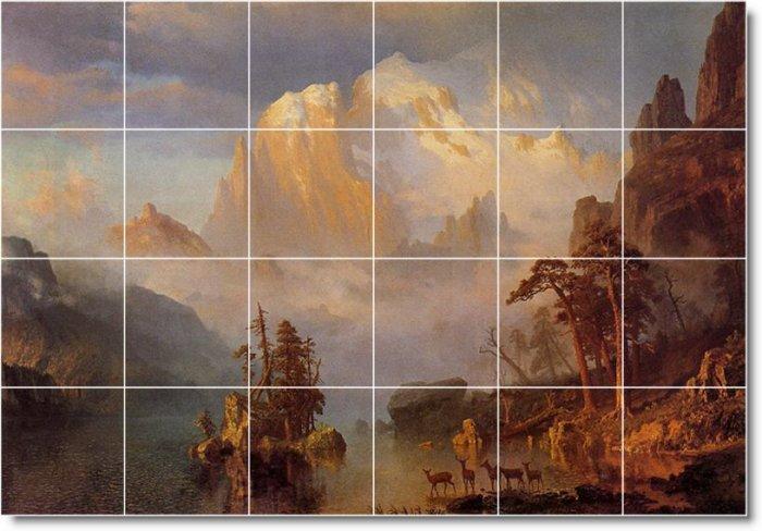 Bierstadt Landscapes Wall Dining Floor Murals Room Design Floor