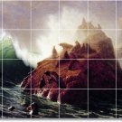Bierstadt Waterfront Room Living Tiles Mural Wall Remodel Decor