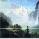 Bierstadt Waterfalls Murals Tile Wall Bathroom Commercial Decor