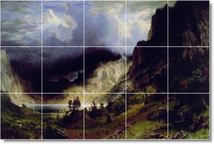 Bierstadt Landscapes Bedkitchen Tiles Mural Floor Remodel Decor