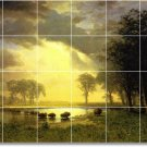 Bierstadt Landscapes Mural Living Room Floor Design Residential