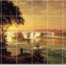 Bierstadt Waterfalls Room Dining Tile Floor Modern House Design