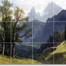 Bierstadt Landscapes Backsplash Tile Mural Wall Art Modern Home