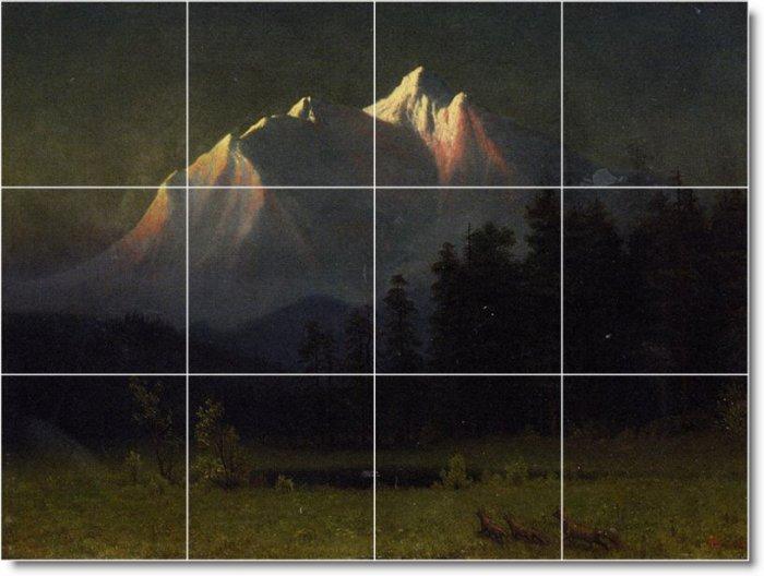 Bierstadt Landscapes Shower Tiles Wall Ideas Remodel Commercial