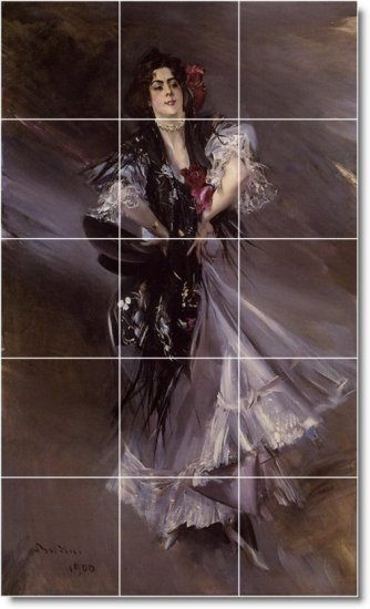 Boldini Women Dining Room Tile Mural House Construction Decorate