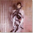 Boldini Women Dining Tile Room Mural Construction Decorate House