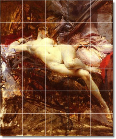 Boldini Nudes Tile Wall Murals Room Dining Construction Interior