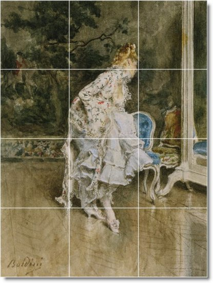 Boldini Women Murals Wall Room Tile Dining House Idea Remodeling