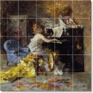 Boldini Women Kitchen Mural Backsplash Tile Renovate Commercial
