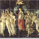 Botticelli Religious Tiles Mural Backsplash Home Ideas Decorating