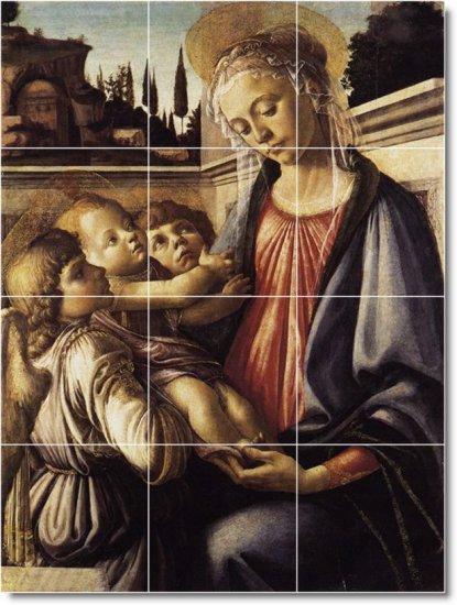 Botticelli Religious Murals Floor Bathroom House Ideas Decorating