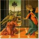 Botticelli Angels Mural Tile Backsplash Construction Contemporary