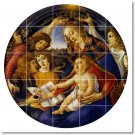 Botticelli Religious Room Living Mural Tile Interior Design Decor