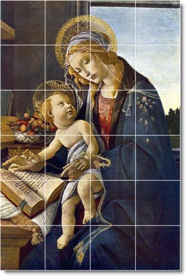Botticelli Religious Room Mural Living Tile Design Interior Decor