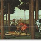 Botticelli Mythology Mural Room Living Tile Contemporary Renovate