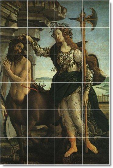 Botticelli Mythology Room Mural Tile Renovations Commercial Ideas