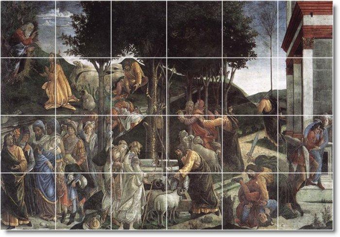 Botticelli Religious Mural Room Tile Ideas Commercial Renovations